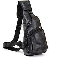 Сумка кросс боди смарт из кожзама Vintage 20571 Черная