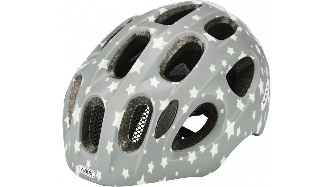 Велосипедный детский шлем ABUS YOUN-I 2.0 S 48-54 Grey Star 638107
