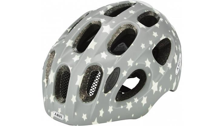Велосипедный детский шлем ABUS YOUN-I 2.0 S 48-54 Grey Star 638107, фото 2