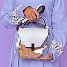 Силіконова сумка з шкіряним клапаном 6957, фото 2