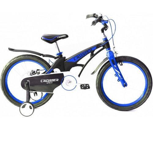Велосипед двухколесный облегченный Crosser Magnesium Bike Space 18 дюймов синий