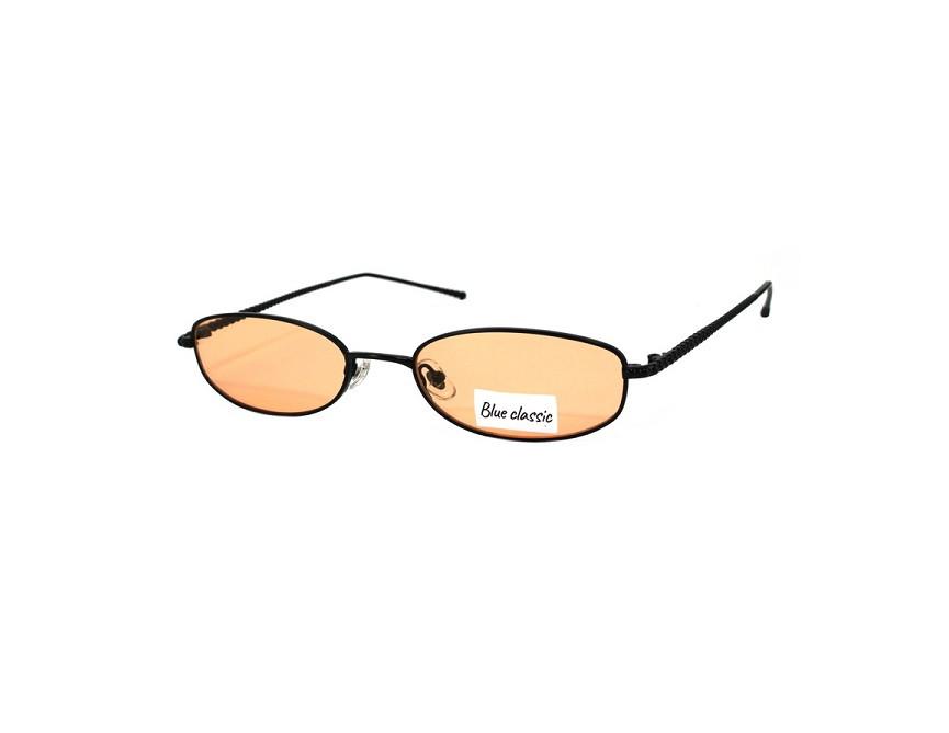 Очки солнцезащитные BLUE CLASSIC с узкими оранжевыми линзами 314805