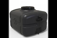 Бак для води прямокутний чорний 105л