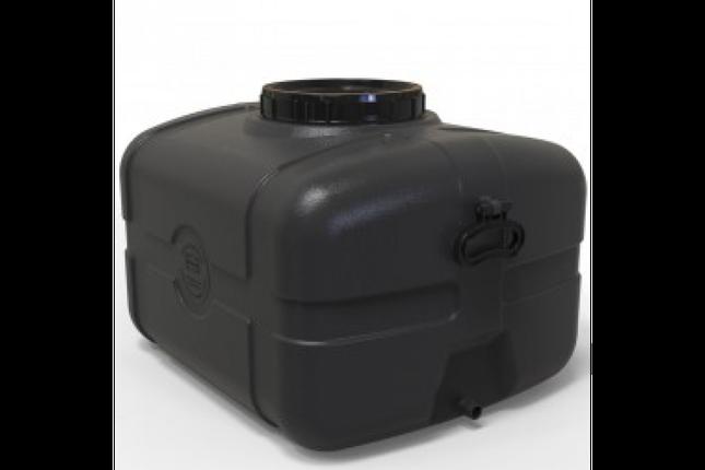 Бак для воды прямоугольный черный 105л, фото 2