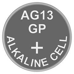 Батарейка годинникова лужна, Alkaline AG13 (A76, V13GA, PX76A, LR44) GP 1.5 V