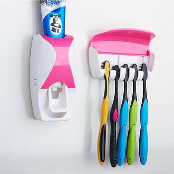 Тримач з дозатором для зубних щіток Juxin-300