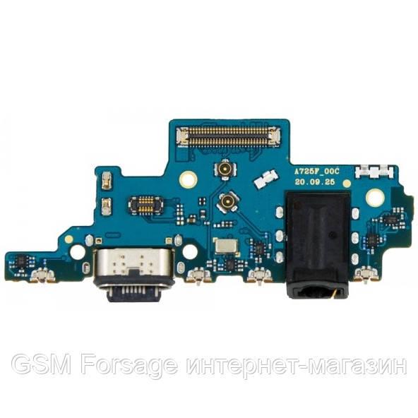 Роз'єм зарядки Samsung Galaxy A72 SM-A725 (з платкой) High Copy