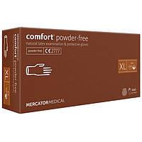 Перчатки латексные MERCATOR Comfort Powder-Free WHITE неопудренные, размер XL , 100 шт