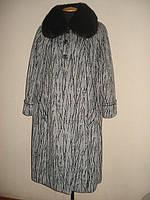 Зимнее пальто больших размеров с мехом, р.50-66, фото 1