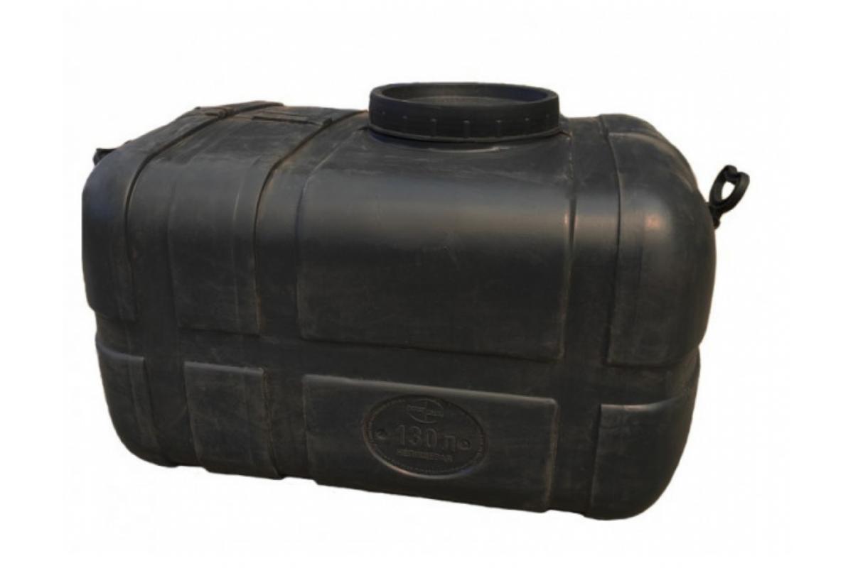 Бак для воды прямоугольный черный 125л