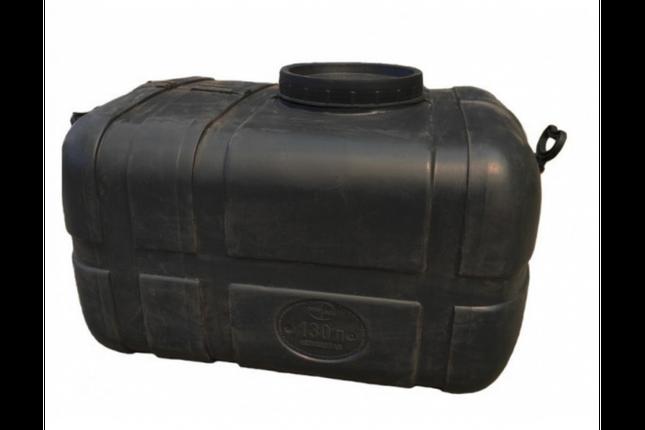 Бак для воды прямоугольный черный 125л, фото 2