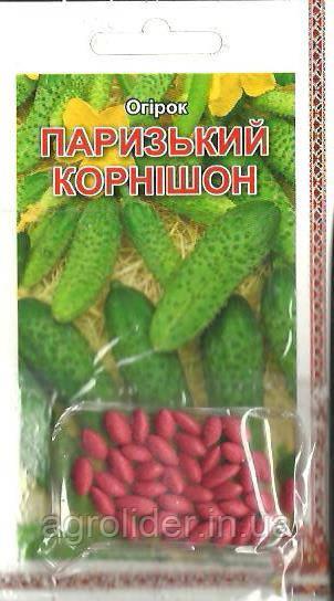 Семена огурец Парижский Корнишон (драже) 3г Зеленый (Малахiт Подiлля)