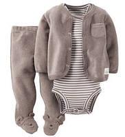 Махровый костюм-тройка с ползунками Carter's (США)