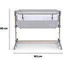 Доставне ліжко-люлька Kinderkraft Neste Air Grey Wood (KKLNEAIRGRY00W), фото 8