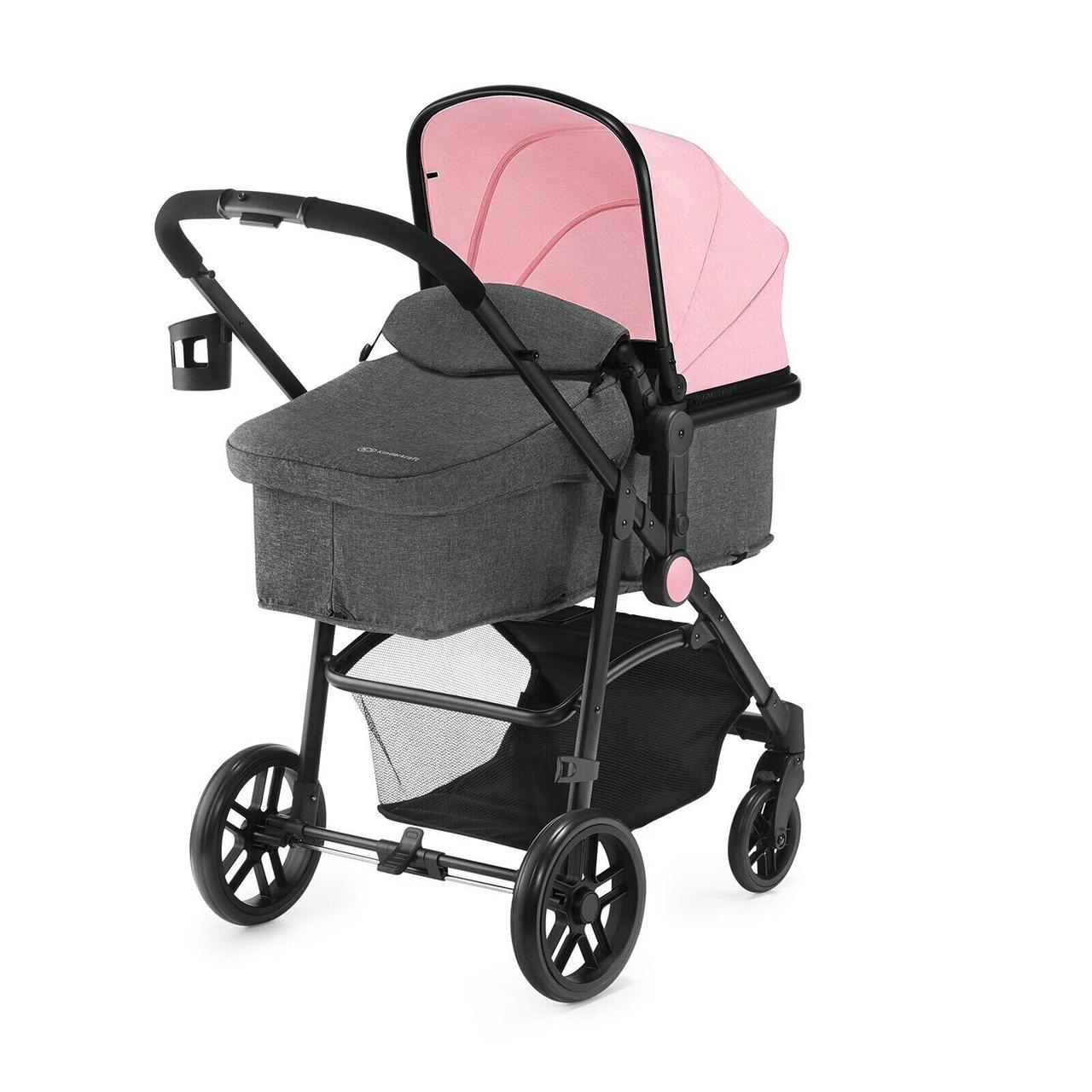 Универсальная коляска 2 в 1 Kinderkraft Juli Pink (KKWJULIPNK2000)
