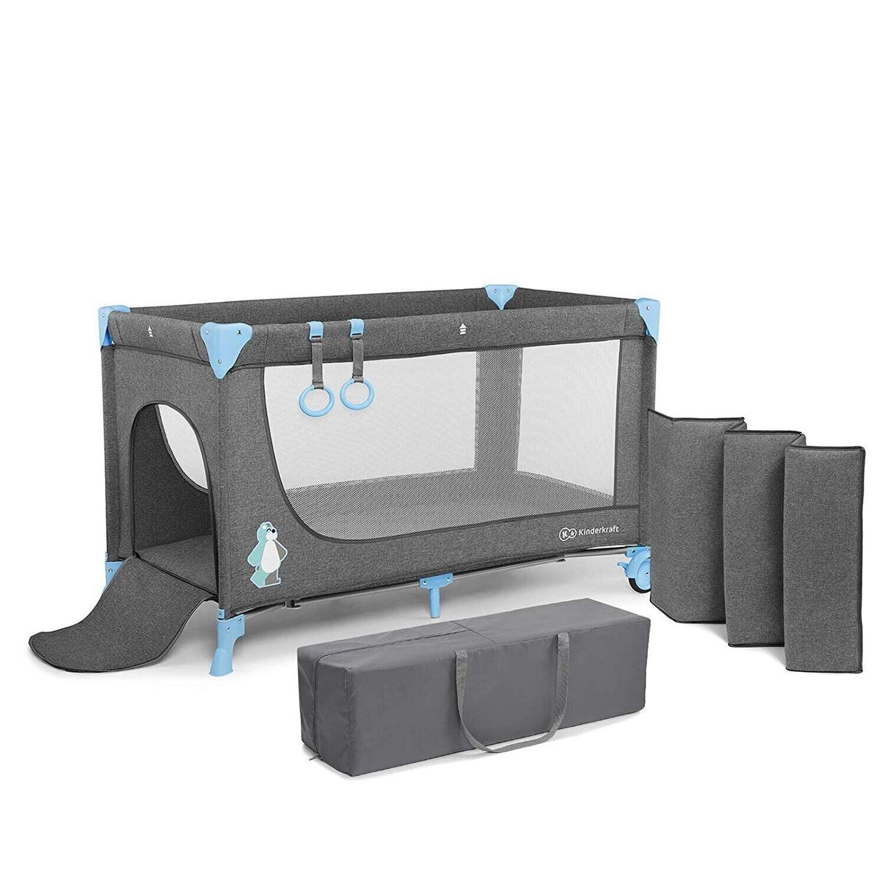 Кровать-манеж Kinderkraft Joy Blue (KKLJOYBLU00000)
