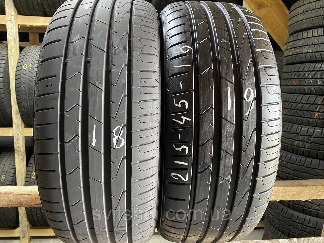 Літні шини 215/45R18 HANKOOK Ventus prime 3 (7+мм) 89V