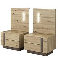 Ночные шкафы 2 шт с освещением Arco Meble Laski 60х102x46 (ARCO_NOCNE_OSWIE) 075702