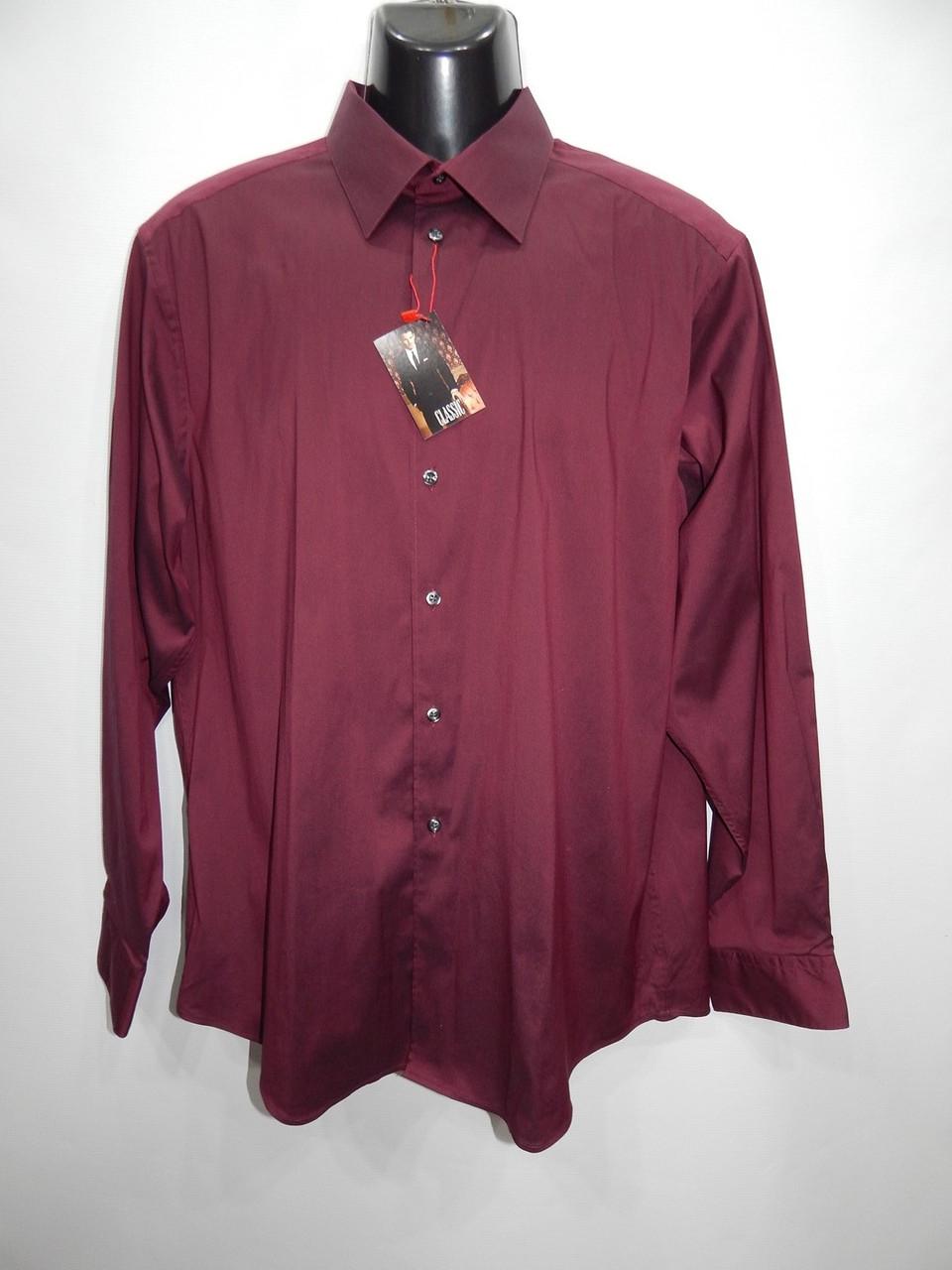 Мужская классическая рубашка с длинным рукавом ML р.50 161ДР