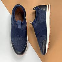 Кроссовки Loro Piana синие (Лоро Пьяна) арт. 123-80, фото 1