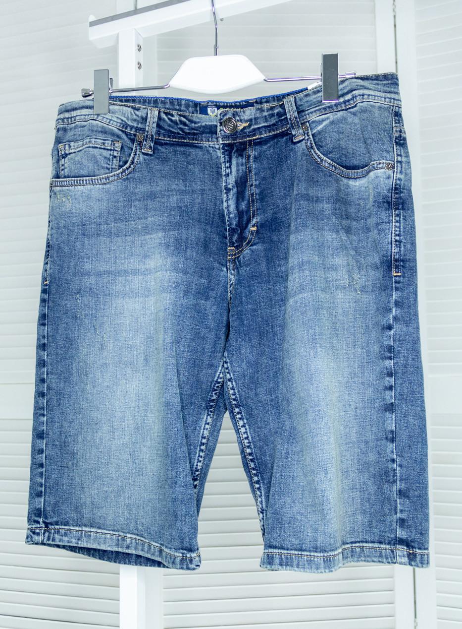 Мужские джинсовые шорты Pitbull синие Шорты с потертостями Большие размеры