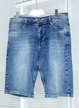 Чоловічі джинсові шорти Pitbull сині Шорти з потертостями Великі розміри, фото 2