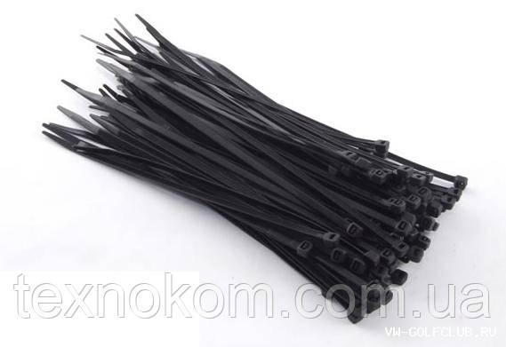 Стяжка пластикова для кабелю (3х100мм), чорна, ціна за упаковку (100шт)