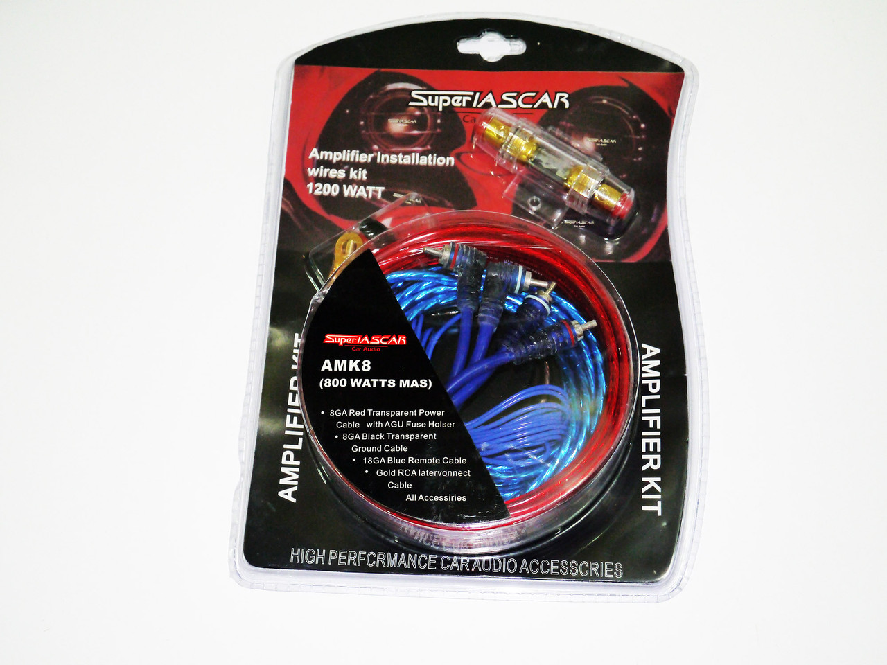 Набір проводів для підсилювача / сабвуфера AMK8