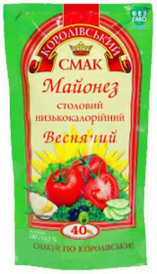 """Майонез ТМ """" Королівський Смак 40% 170 грам"""