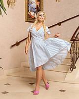 Легке літнє плаття на запах в смужку, фото 1