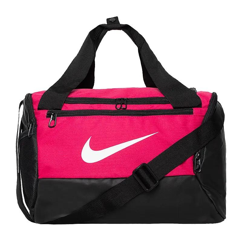 Небольшая спортивная сумка через плечо женская Nike Brasilia 9.0 XS Duffel (25л) розовая (Оригинал)