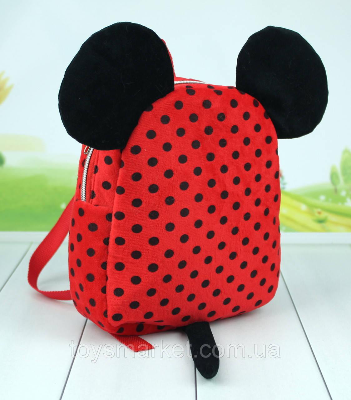 Дитячий рюкзак Міккі і Мінні Маус, плюшевий рюкзак в садок, 24 див.