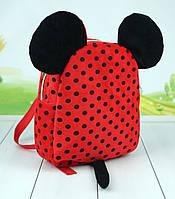 Дитячий рюкзак Міккі і Мінні Маус, плюшевий рюкзак в садок, 24 див., фото 1
