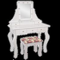 ТУАЛЕТНИЙ столик,косметичний столик з табуреткою і підсвічуванням, фото 1