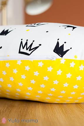 Подушка для кормления белая с желтым для мальчика для девочки, фото 2