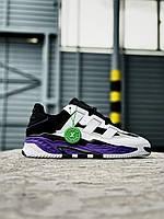Мужские кроссовки Adidas Niteball (черно-фиолетовый) J3308 молодежная качественная обувь