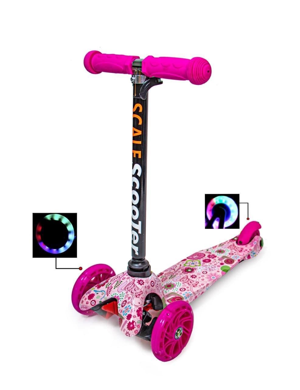 Самокат детский Micro Mini. Pink. Светящиеся колеса!
