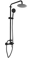Душевая колонна со смесителем для душевой кабины MIXXUS SUS-003-J душевая система черная из нержавеющей стали