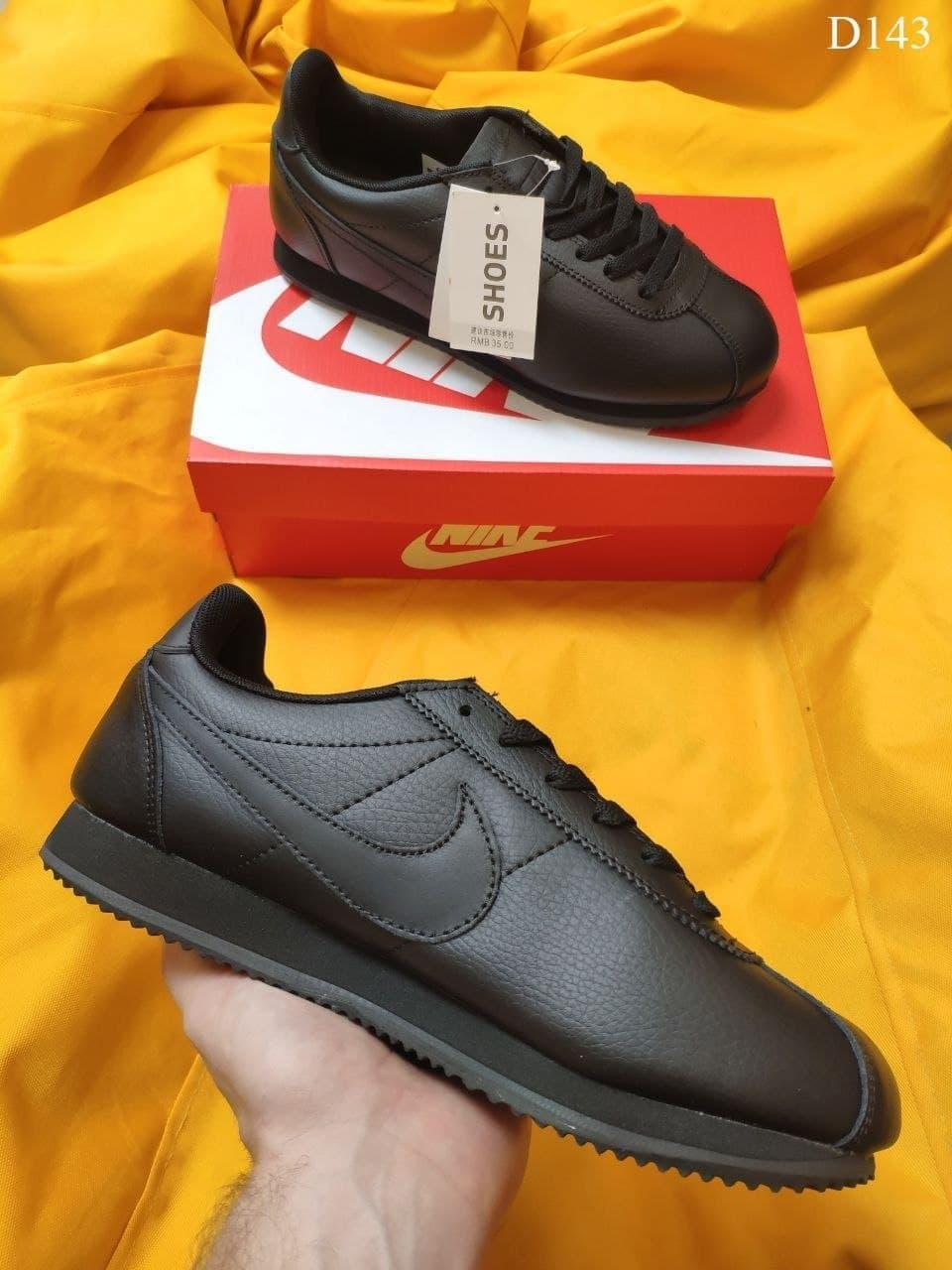 Мужские кроссовки Nike Cortez Classic (черные) топовые качественные кроссы D143