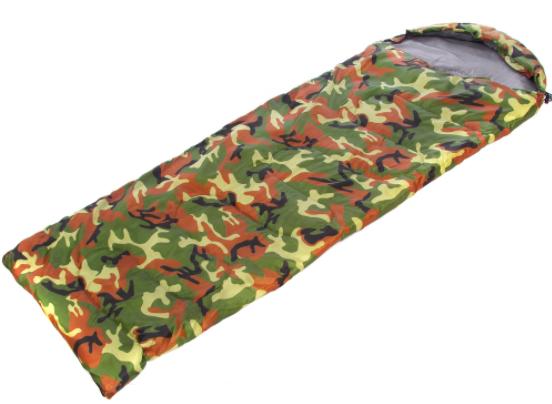 Спальный мешок одеяло с капюшоном SY-066 Камуфляж