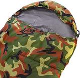 Спальный мешок одеяло с капюшоном SY-066 Камуфляж, фото 3