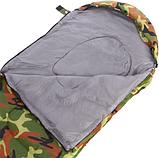Спальный мешок одеяло с капюшоном SY-066 Камуфляж, фото 5