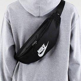 Сумка на пояс бананка Nike Heritage Hip Pack BA5750-010 черная (Оригинал)