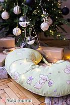 Подушка для кормления салатного цвета для мальчика и для девочки хлопковая подушка с ремешком, фото 3