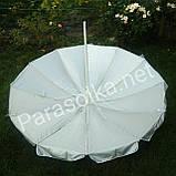 Зонт пляжный темно-зеленый 2,5 метра на 12спиц, фото 2