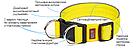 Ошейник Keeper Active усиленный нейлоновый с пластиковой пряжкой и светоотражающим кантом 40мм 470-510 мм, фото 2