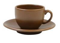 Чашка кофейная с блюдцем Табако 95 мл KERAMIA, 24-237-048