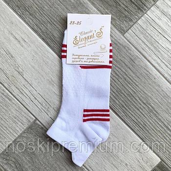 Носки женские короткие хлопок с сеткой Элегант Fitness, 23-25 размер, белые, 01769