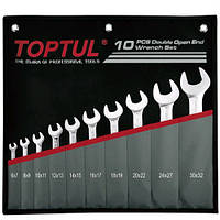 Набор рожковых ключей 6-32 мм TOPTUL 10 шт. GPCJ1001