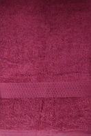 Рушник банний махровий з бордюром Home Line 70х140 см (124806) Бордо